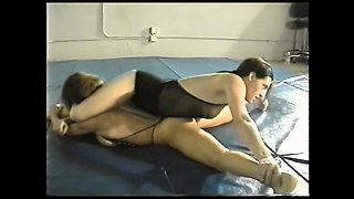 Topless Wrestling and Oral Strap-on in Academy Wrestling