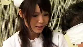 Luscious Japanese nurse can't wait to enjoy some hard meat