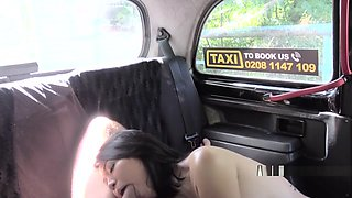 Pierced Pussy Asian Teen Bangs In Fake Taxi