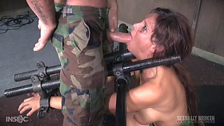 Syren De Mer is a sexy slave who likes being treated brutally