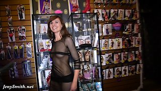 Fishnet seethrough dress no underwear