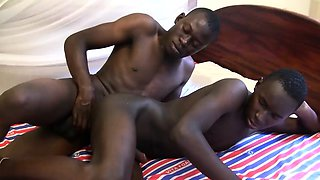 Black African Twinks Chui and Eric Bareback