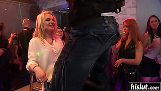 Kinky girls fuck at the party