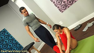 Smoking hot gymnast Bella Danger gets fucked by horny trainer