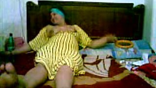 Amateur chubby Arab housewife with big tits was fucked missionary