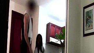 Horny Latina maid seduced by hunky European tourist