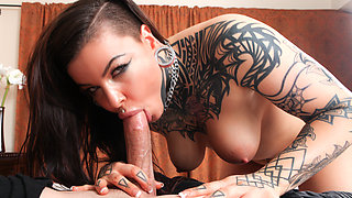 Victoria Villain & Jessy Jones in Cum On My Tattoo - Victoria Villain - BurningAngel
