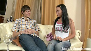 Sandra enjoys a romantic evening with a handsome lover