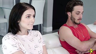 Pretty brunette Rosalyn Sphinxhas a crush on her handsome stepbrother