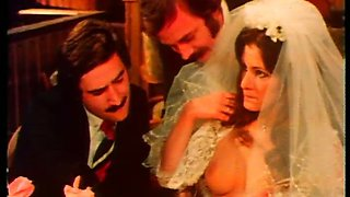 Freaky guy loves watching how his bride fucks another guy