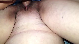 Pissing granny creampied again
