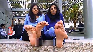 Arab Indian Sexy Girl Hot Feet Show