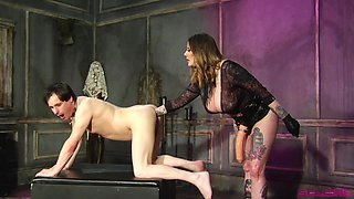Maitresse Madeline Marlowe wants to punish her lover with a big dildo