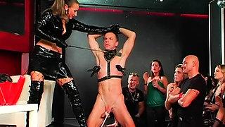 Hot bdsm festish with mistress flogging her slave hard