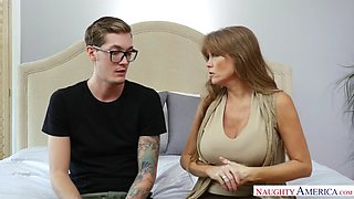 Darla crane fucking in the bed with her tits