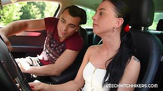 Czech whore Lolly Pop in a driving school