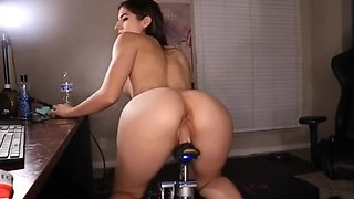 Mia_Rand cumshow on a fuck machine
