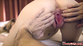 Hot sister sex with cumshot