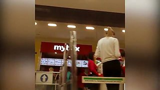 Sexy Shoppers' Sweet Asses Are Stealthily Shown In Upskirt