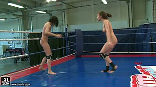 NudeFightClub presents Henessy vs Abbie Cat
