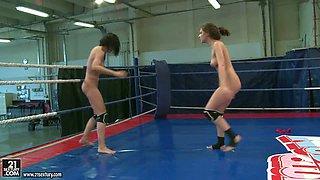 NudeFightClub presents Henessy vs Abbie Cat