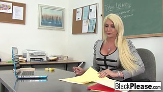 Kelli Staxxx in Hot Teacher Kelli Gets An Interracial Fuck From Her Student - BlackPlease
