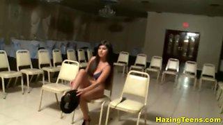 teen hazing sorority sisters strap-on fuck & pussy lick fun