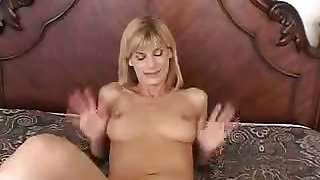 Pretty Blonde Wife Diddling Her Clit
