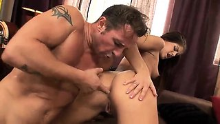 Hairy studs in hardcore blowjob and anal fucking