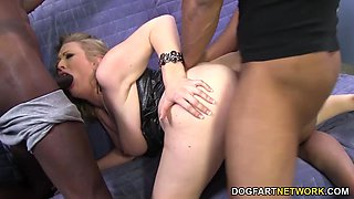 Double Penetration With Big Black Cocks - Vicky Vixen