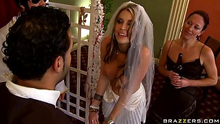 voluptuous bride takes a big dick