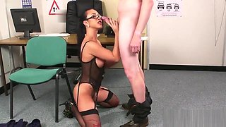 Nasty doll gets sperm shot on her face gulping all the cum