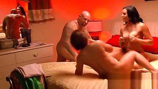 Bald Guy Satisfying Hot Chicks
