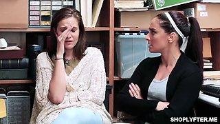 Brunette Penelope Reed punished for shoplifting