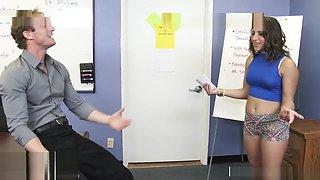 Teacher fucks big ass horny college student Abella Danger - Naughty America