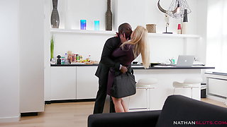 Cheating milf Nikky Thorne's butt destroyed by Joss Lescaf