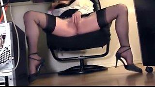 Compilation of secretary leg tease