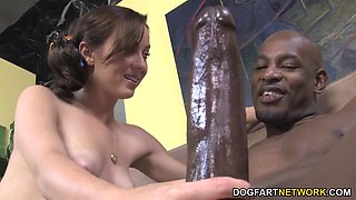 Petite Teen Cheerleader Mae Meyers Fucks Black Dick