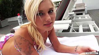 blonde cutie gets pounded hard