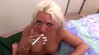 Amazing Amateur video with MILF, Smoking scenes