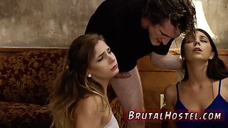 Extreme brutal gagging Two young sluts Sydney Cole and Olivia Lua our down south