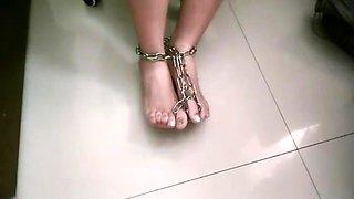 feet metal cuffs