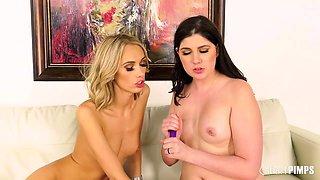 All-Natural Lesbians Miranda Miller and Sky Pierce Playing