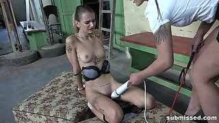 Adelle Unicorn tied up and abused by lesbian mistress Laura Noiret