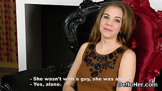 Virgin blonde in her first sex experience