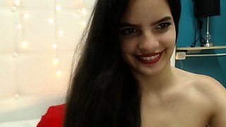 Hottest and cute Amateur 19yo Brunette Teen strips on Webcam