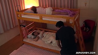 Stepbrother fucks ample brested stepsister Saya Aika and fills her muff with sperm
