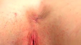 Lovable Sweetie Is Gaping Narrow Slit In Closeup And Getting