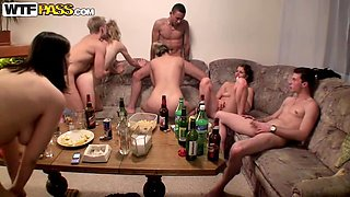 Drunk Ladies Suck And Fuck Hard Cocks In A Hot Sex Party