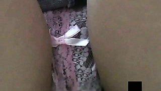 Low Angle Pretty Teen Girls Panties Exposed
